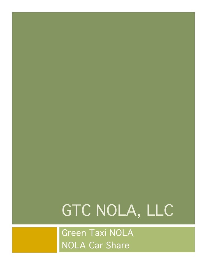 GTC NOLA, LLC Green Taxi NOLA NOLA Car Share
