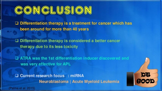 Differentiation Therapy Quot A Breakthrough For Cancer Quot