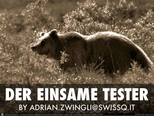 GTD 2013 Adrian Zwingli - Der einsame Tester