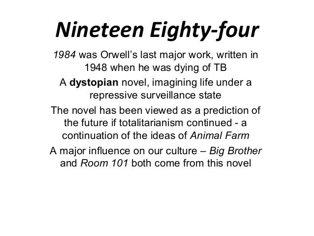 the foreseen events of the future in animal farm a novel by george orwell A list of important facts about george orwell's animal farm, including setting, climax, protagonists, and antagonists sparknotes (french for novel with a key a thinly veiled expos of factual persons or events) language english.