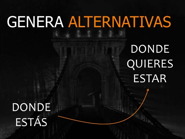 GENERA ALTERNATIVAS             DONDE             QUIERES              ESTARDONDEESTÁS