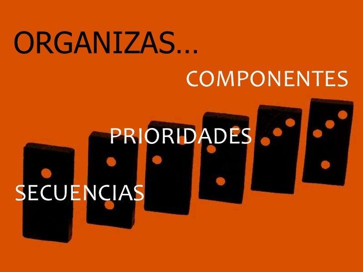 ORGANIZAS…             COMPONENTES       PRIORIDADESSECUENCIAS