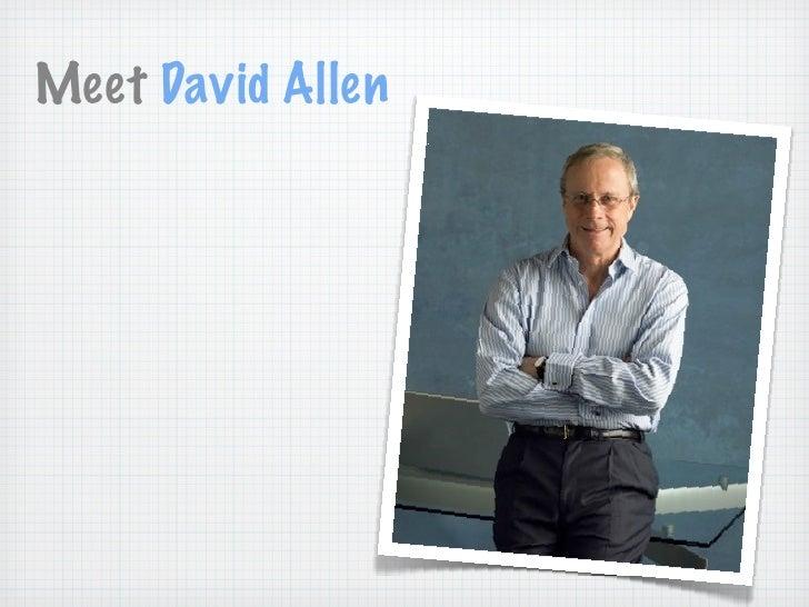 Meet David Allen