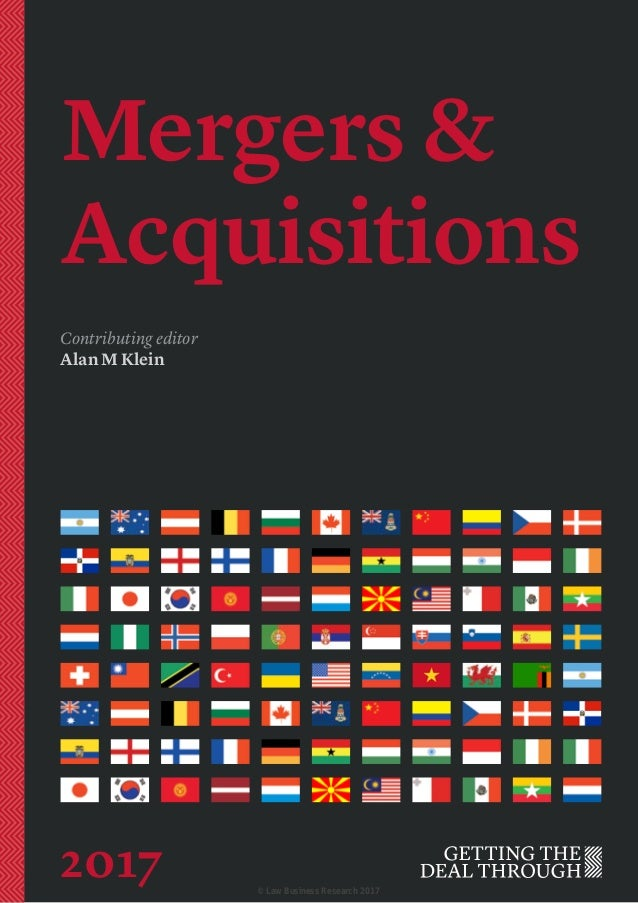 Mergers & Acquisitions Contributing editor Alan M Klein 2017 © Law Business Research 2017