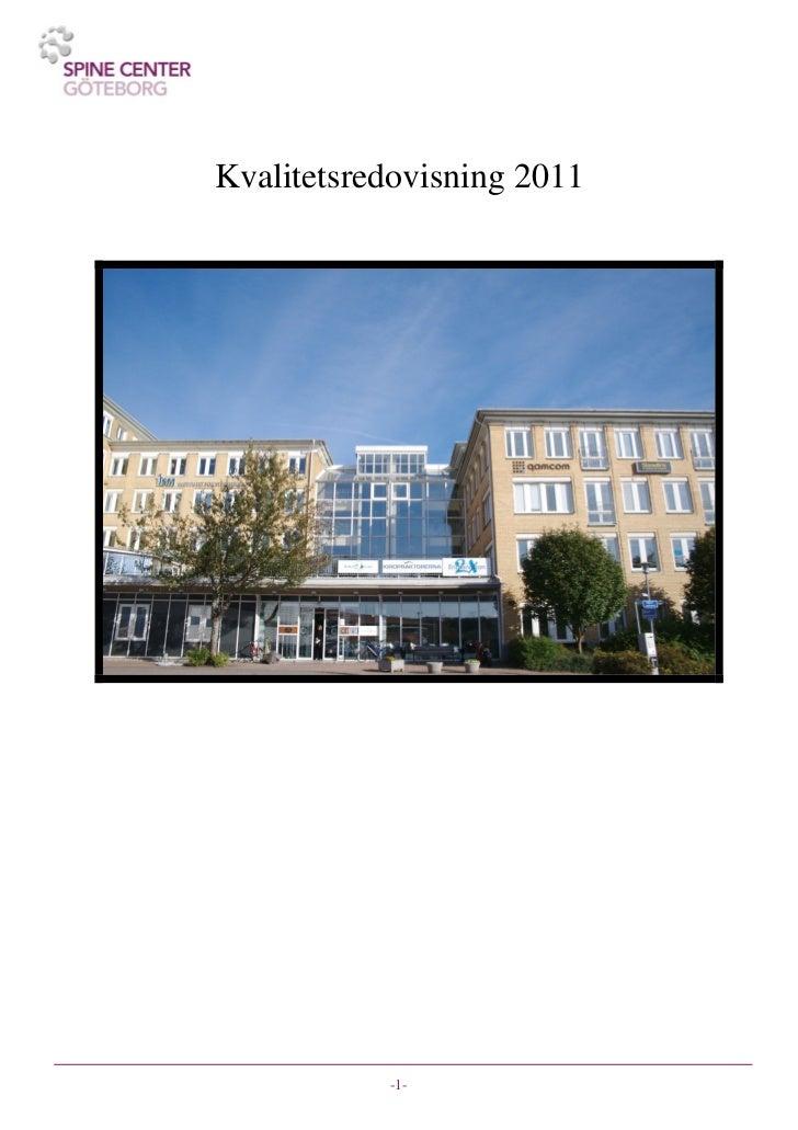 Kvalitetsredovisning 2011           -1-