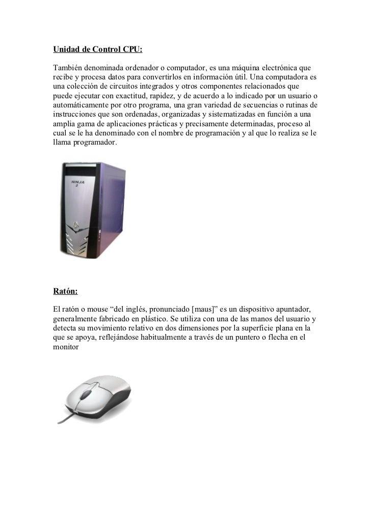 Partes fisicas del computador for Fisica con ordenador