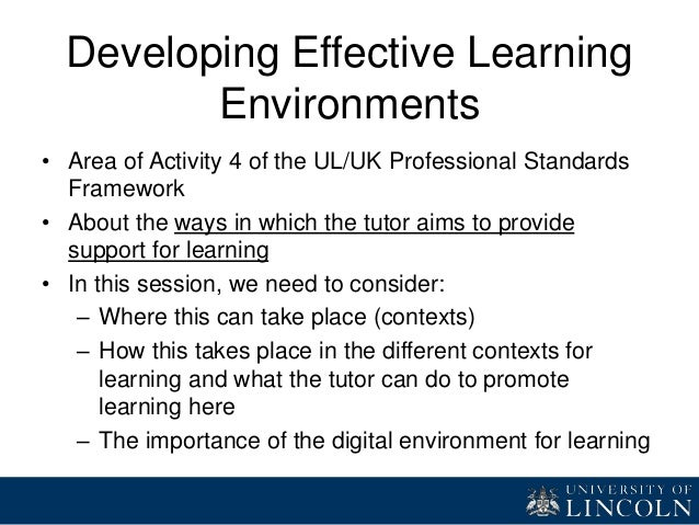 Designing Effective Learning Environments for Graduate Teacher Educat…