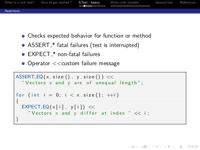 C++ Unit Test with Google Testing Framework