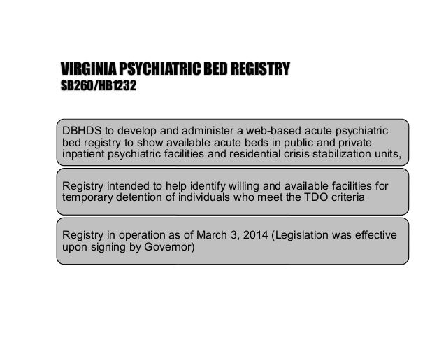 2014 Virginia Mental Health Law Changes