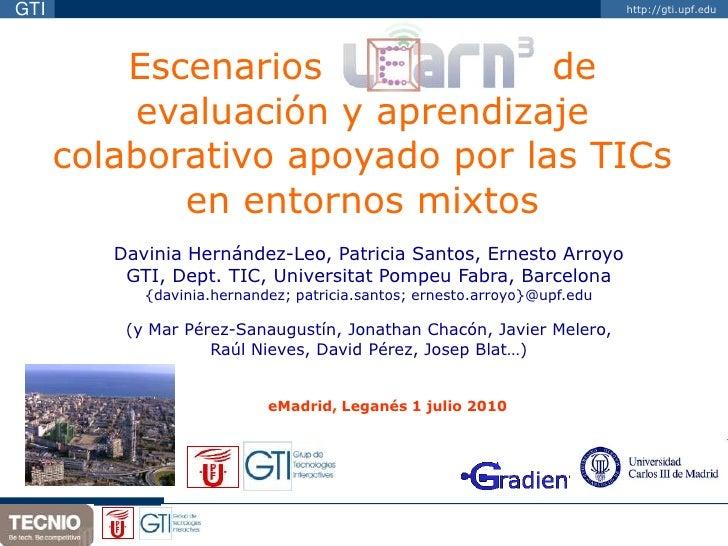 GTI                                                                        http://gti.upf.edu               Escenarios    ...