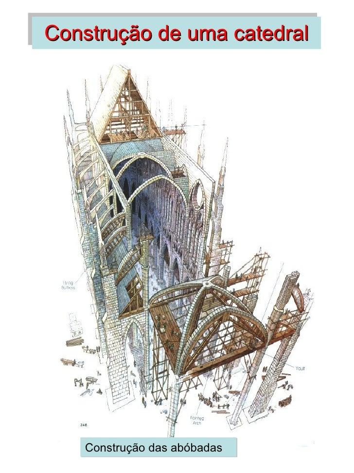 Construção de uma catedral   Construção das abóbadas