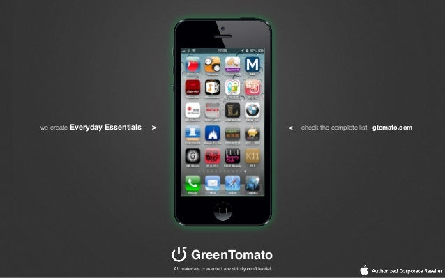 we create Everyday Essentials >GreenTomato< check the complete list : gtomato.comAll materials presented are strictly confi...