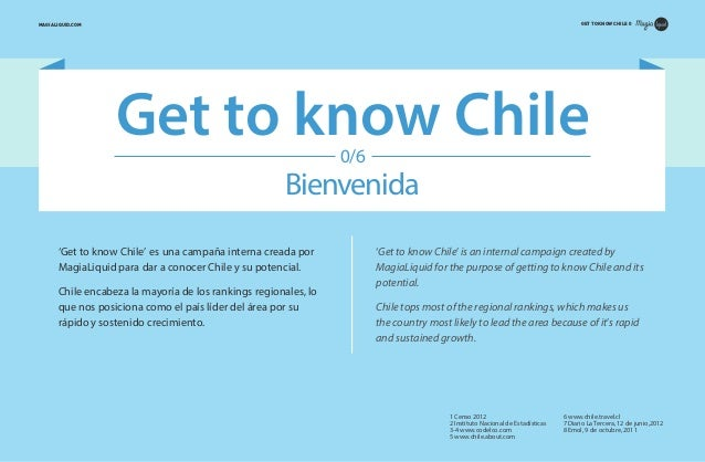 GET TO KNOW CHILE 0  MAGIALIQUID.COM  Get to know Chile 0/6  Bienvenida 'Get to know Chile' es una campaña interna creada ...