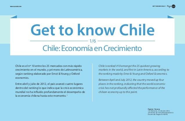 GET TO KNOW CHILE 1  MAGIALIQUID.COM  Get to know Chile 1/6  Chile: Economía en Crecimiento Chile es el nº 10 entre los 25...