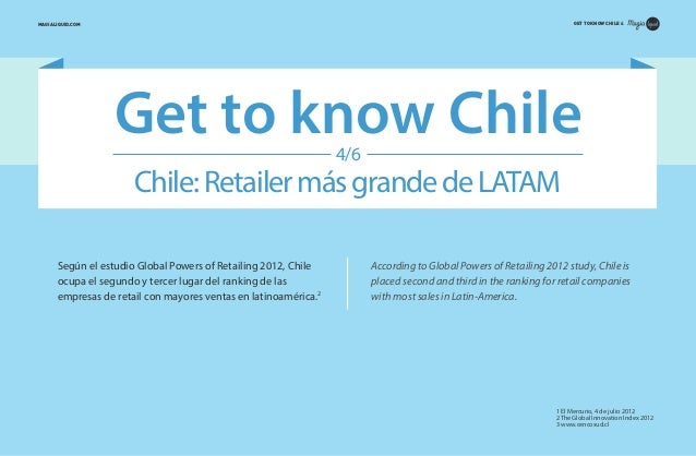 GET TO KNOW CHILE 4  MAGIALIQUID.COM  Get to know Chile 4/6  Chile: Retailer más grande de LATAM Según el estudio Global P...