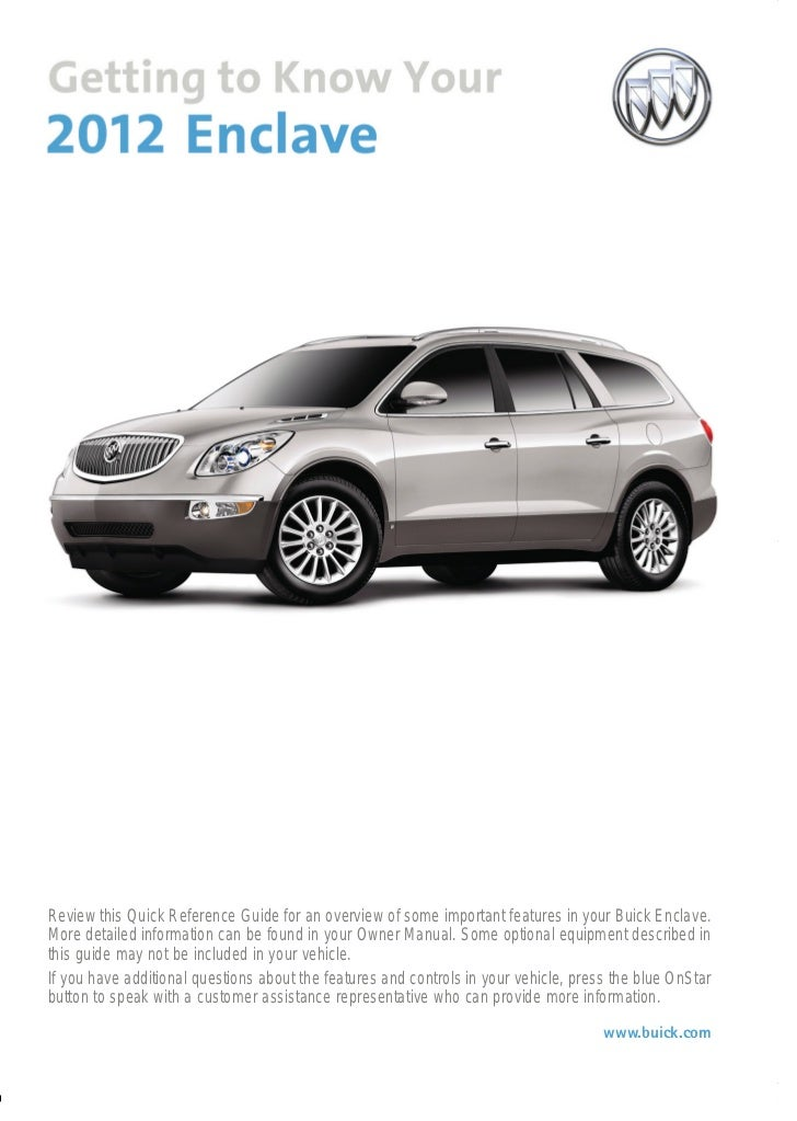 Getting To Know Your 2012 Buick Enclave