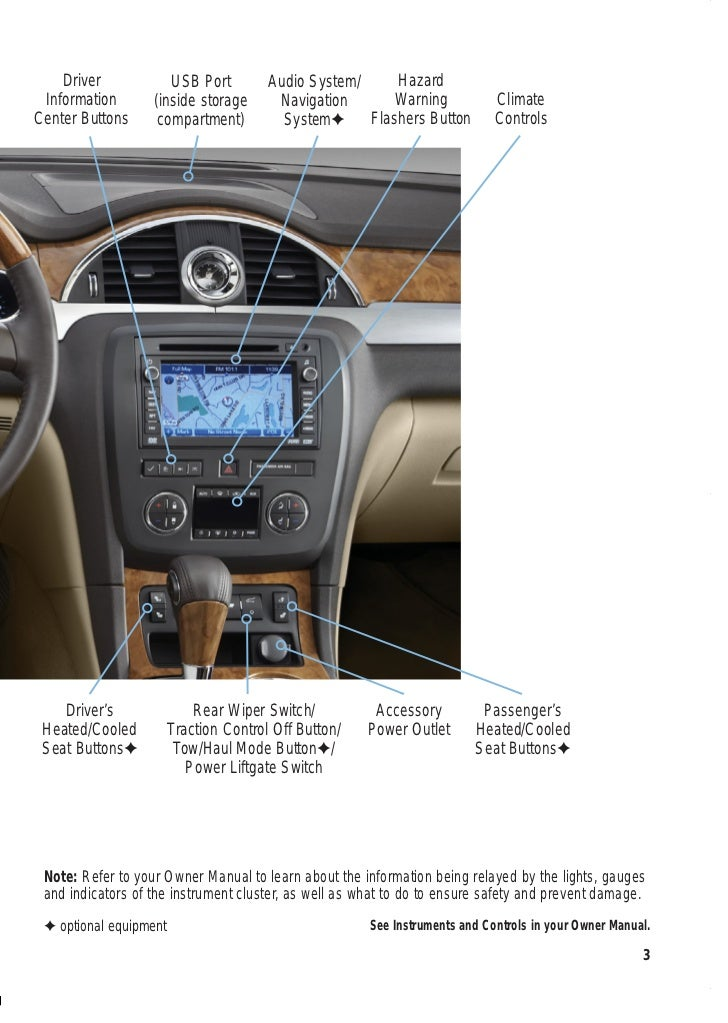 getting to know your 2012 buick enclave rh slideshare net 2015 buick encore navigation system manual 2015 buick encore navigation system manual