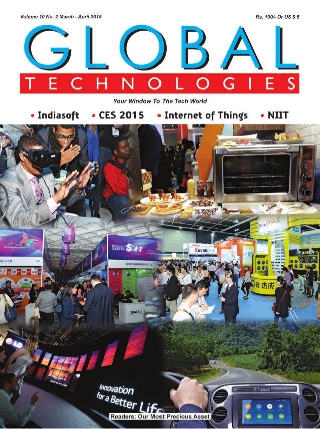 Global Technologies March April 2015 CES, NIIT, Indiasoft, IoT