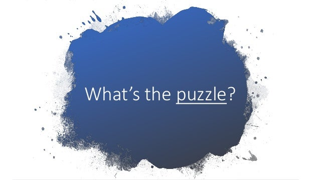 What's the puzzle?