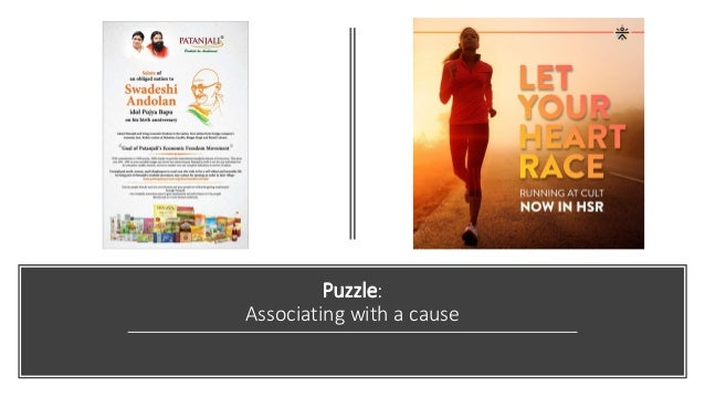 Puzzle: Associating with a cause