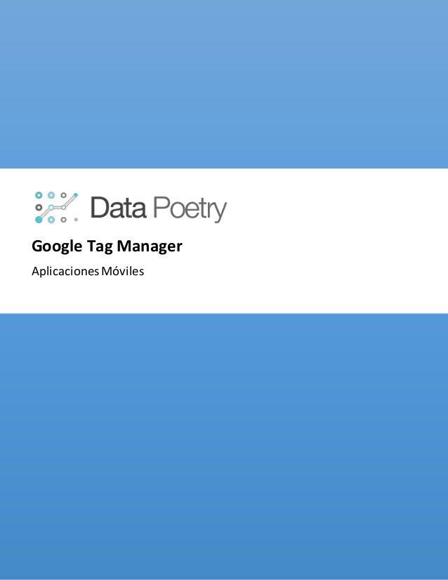 Google Tag Manager AplicacionesMóviles