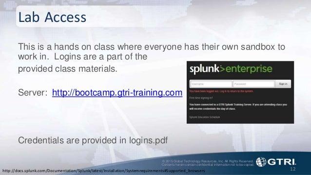 Splunk Fundamentals: Investigations with Core Splunk - Splunk Tech Day