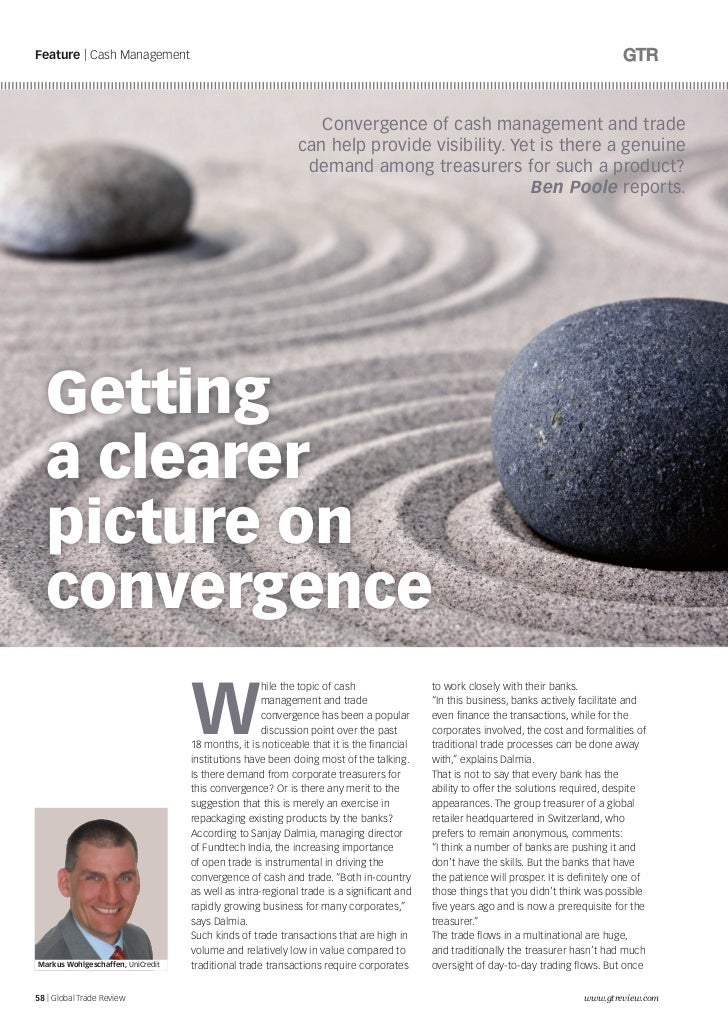 Feature | Cash Management                                                               Convergence of cash management and...