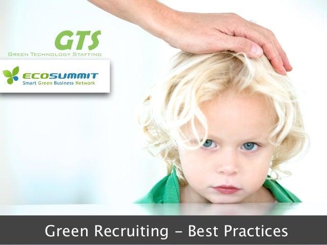 Blondie Green Recruiting - Best Practices