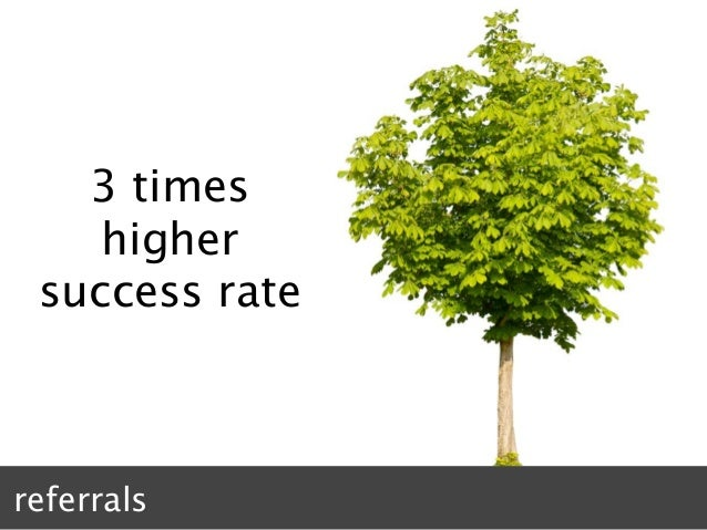 3 times higher success rate referrals
