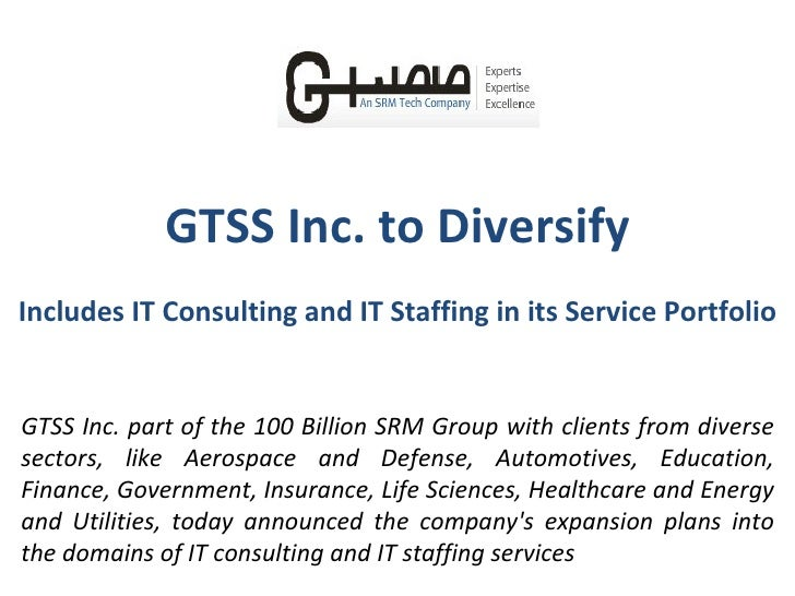 GTSS Inc. to Diversify Includes IT Consulting and IT Staffing in its Service Portfolio GTSS Inc. part of the 100 Billion S...