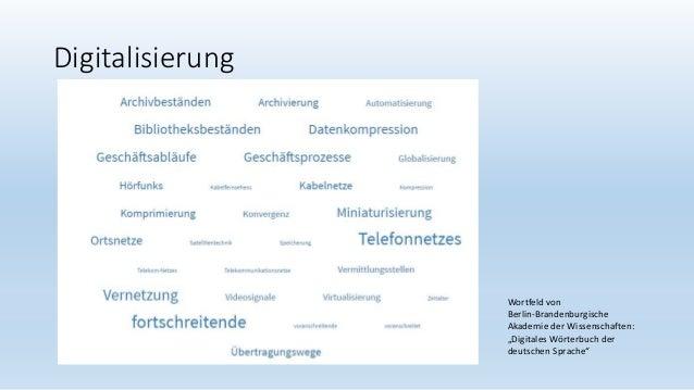 """Digitalisierung Wortfeld von Berlin-Brandenburgische Akademie der Wissenschaften: """"Digitales Wörterbuch der deutschen Spra..."""