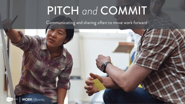 Copyright © 2017 Salesforce PITCH and COMMIT Communicating and sharing often to move work forward ignite