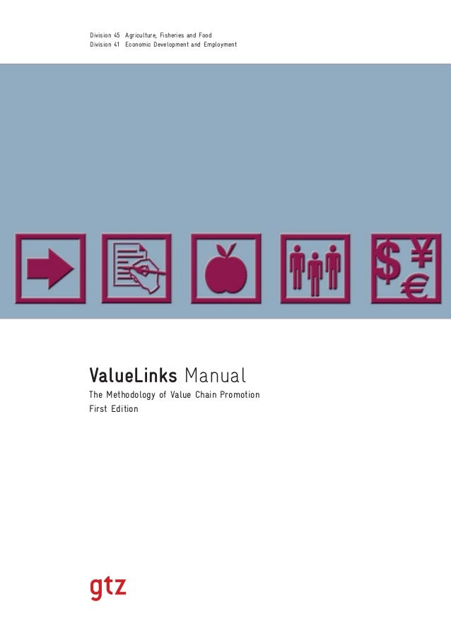 ValueLinks Manual The Methodology of Value Chain Promotion First Edition Division 45 Agriculture, Fisheries and Food Divis...