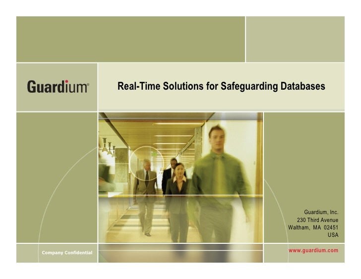 Real-Time Solutions for Safeguarding Databases                                                                       Guard...
