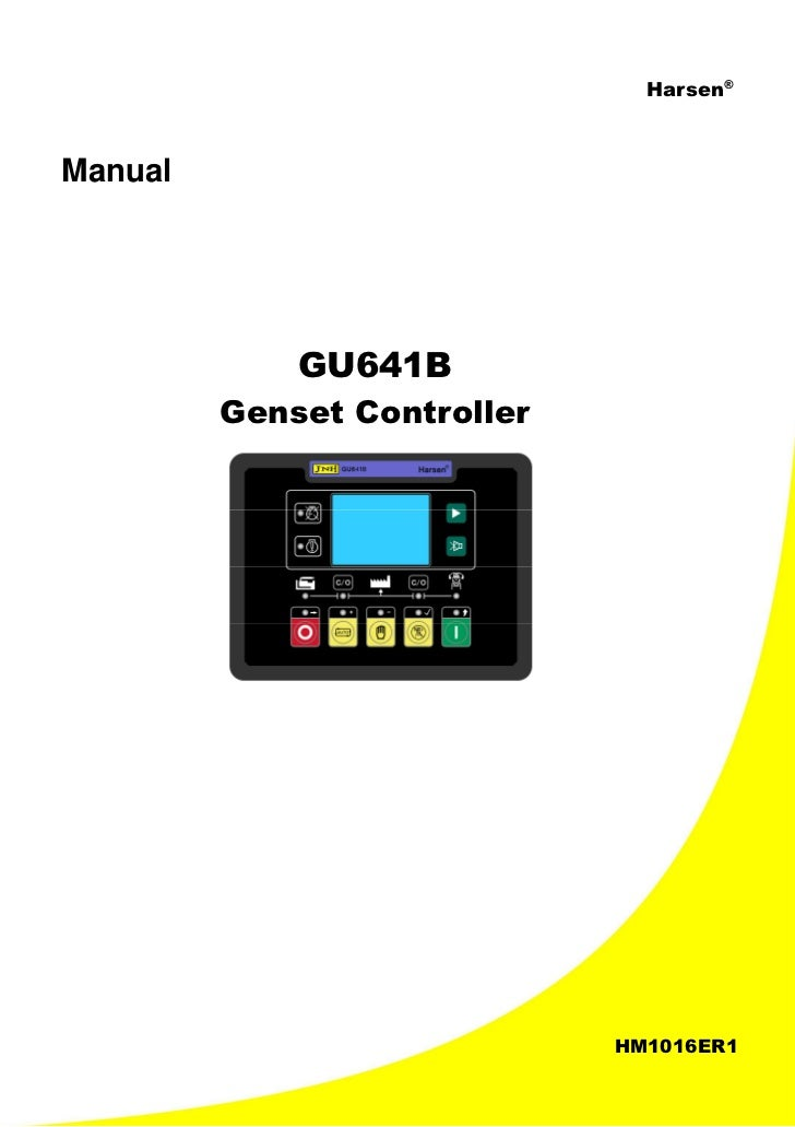 gu641 b genset control operation manual 1 rh slideshare net User Manual Guide Honeywell Programmable Thermostat Owner Manual