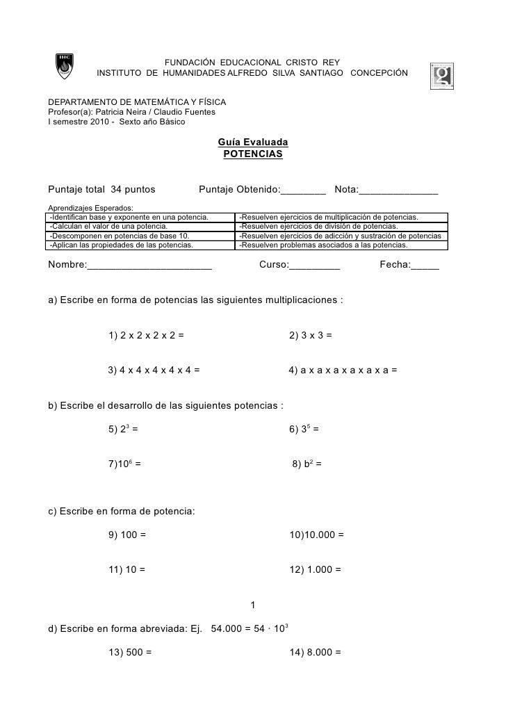 FUNDACIÓN EDUCACIONAL CRISTO REY              INSTITUTO DE HUMANIDADES ALFREDO SILVA SANTIAGO CONCEPCIÓN   DEPARTAMENTO DE...
