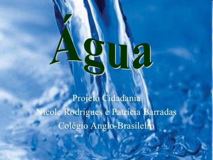 Projeto CidadaniaNicole Rodrigues e Patrícia Barradas     Colégio Anglo-Brasileiro