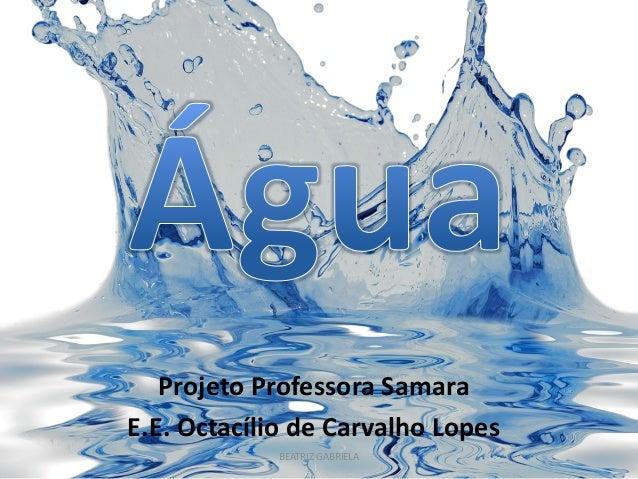 Projeto Professora Samara  E.E. Octacílio de Carvalho Lopes  BEATRIZ GABRIELA