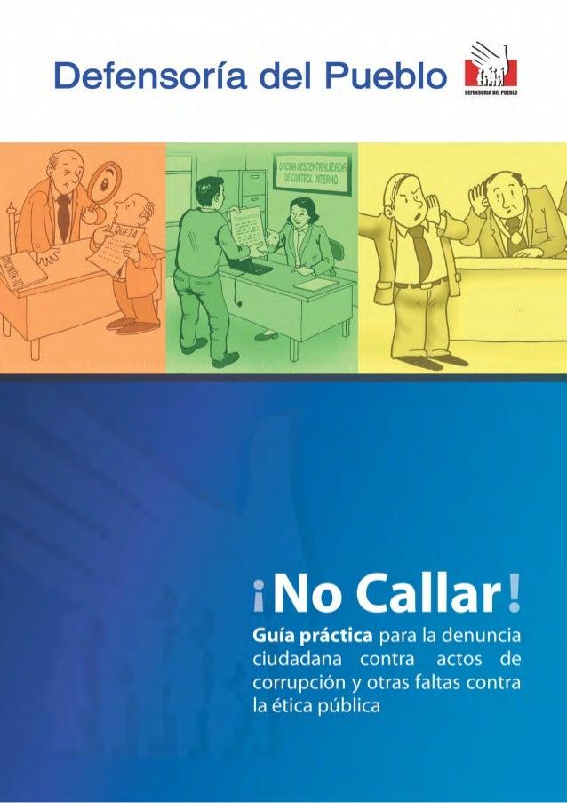 © Defensoría del PuebloJr. Azángaro N° 430Lima 01-PerúCentral Telefónica (511) 311-0300Fax (511) 426-7889E-mail: webmaster...