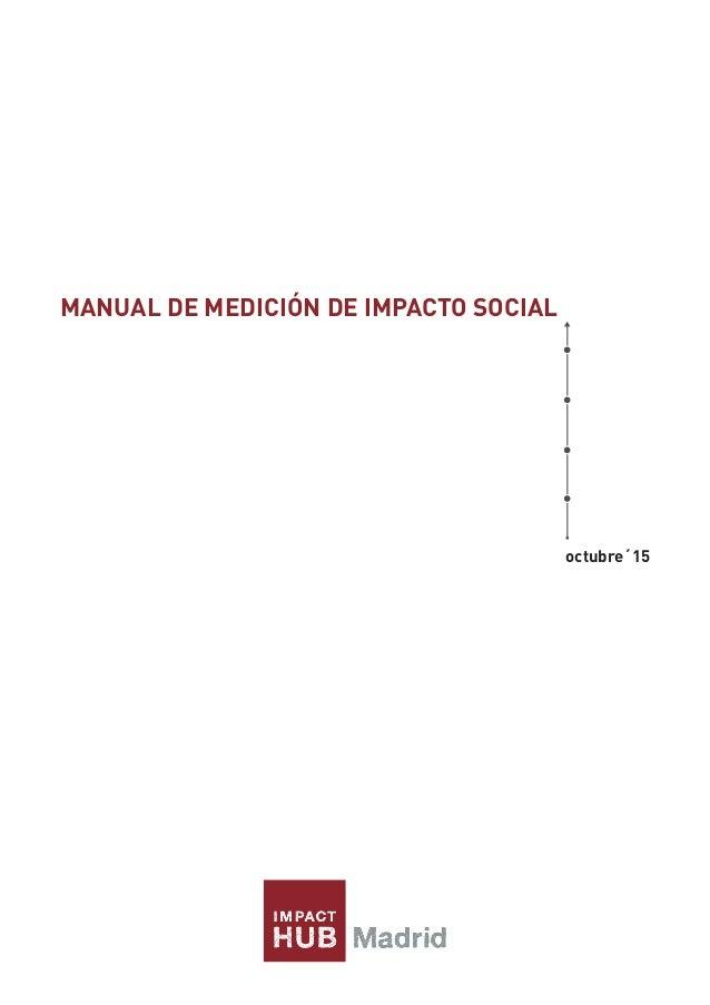 MANUAL DE MEDICIÓN DE IMPACTO SOCIAL octubre´15
