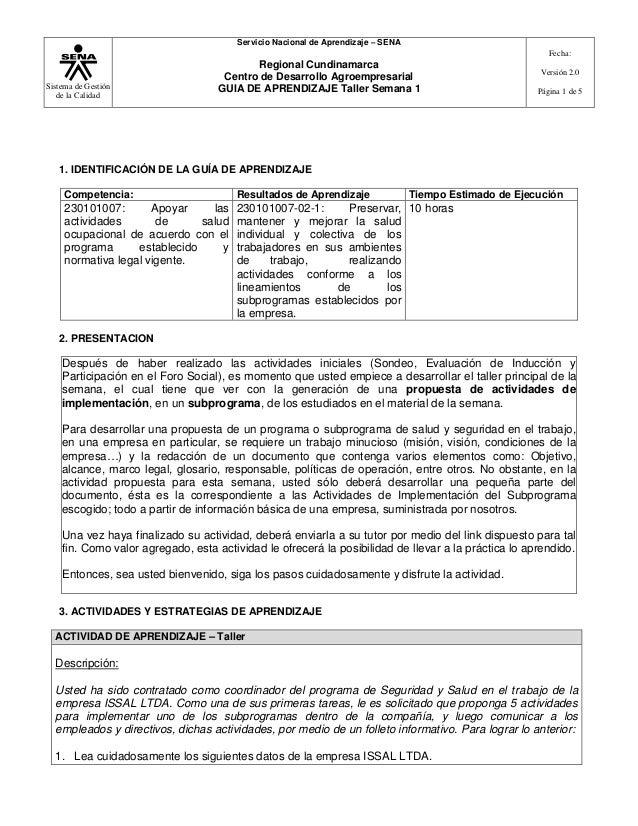 Servicio Nacional de Aprendizaje – SENA Fecha:  Sistema de Gestión de la Calidad  Regional Cundinamarca Centro de Desarrol...
