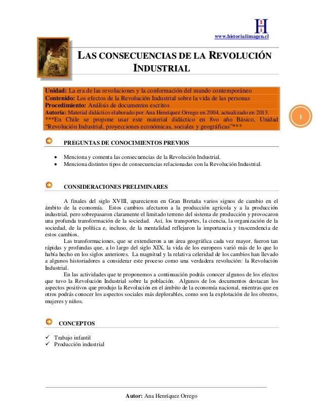 www.historia1imagen.clAutor: Ana Henríquez Orrego1LLAASS CCOONNSSEECCUUEENNCCIIAASS DDEE LLAA RREEVVOOLLUUCCIIÓÓNNIINNDDUU...