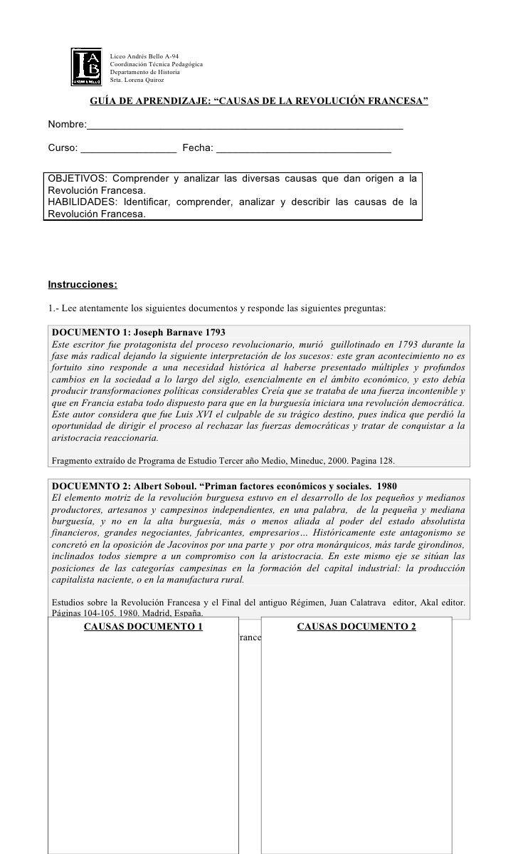 Liceo Andrés Bello A-94                Coordinación Técnica Pedagógica                Departamento de Historia            ...