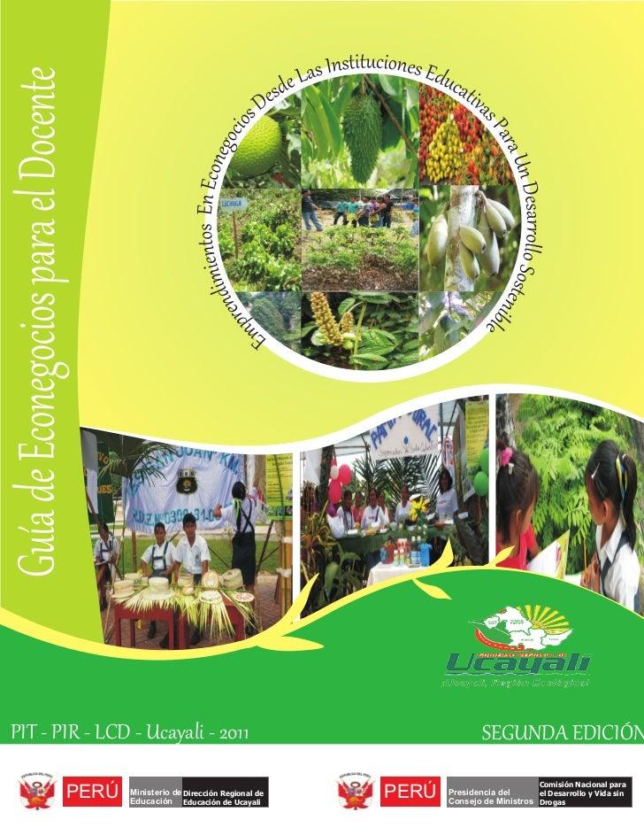 Guía de Econegocios para el DocentePIT - PIR - LCD - Ucayali - 2011                                                       ...