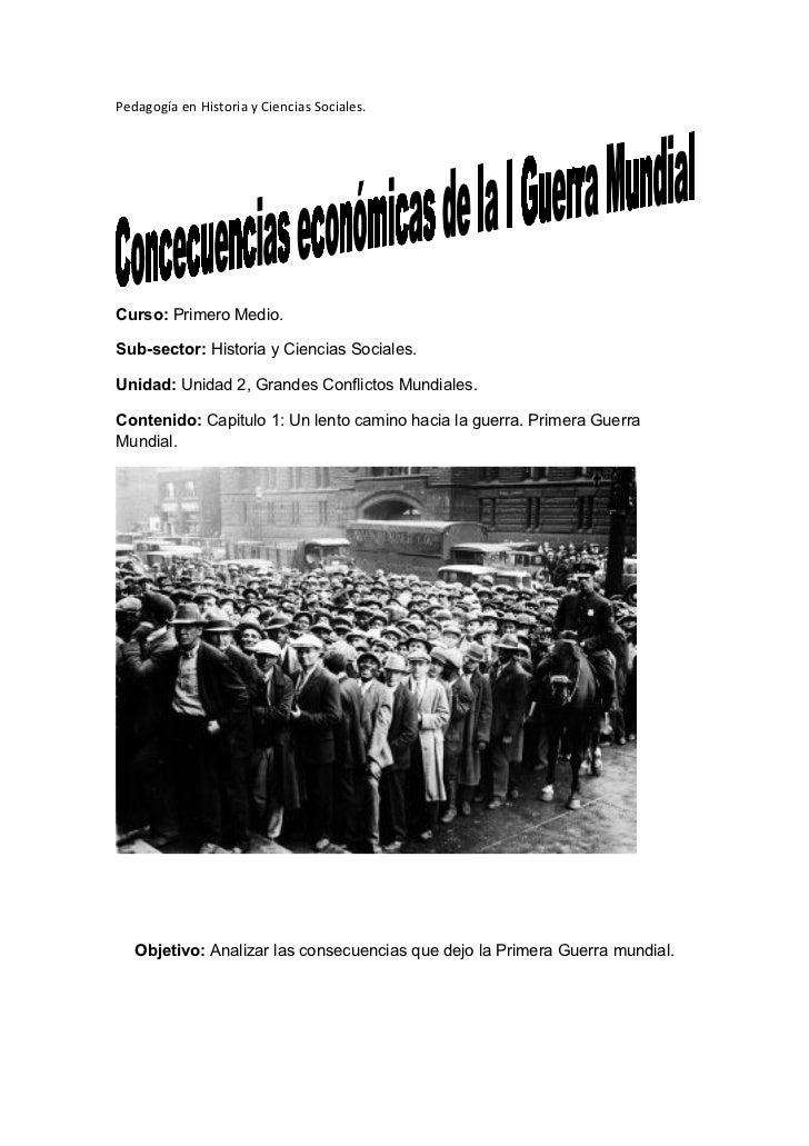 Pedagogía en Historia y Ciencias Sociales.Curso: Primero Medio.Sub-sector: Historia y Ciencias Sociales.Unidad: Unidad 2, ...
