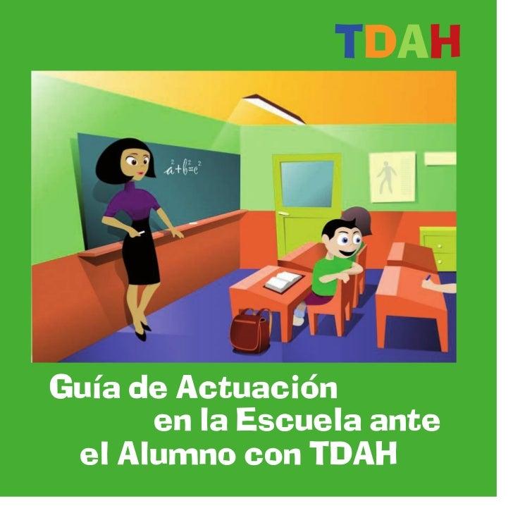 Resultado de imagen de Guía de Actuación en la Escuela ante el Alumno con TDAH