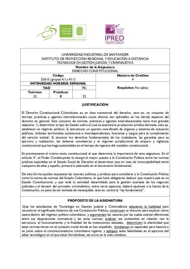 UNIVERSIDAD INDUSTRIAL DE SANTANDER             INSTITUTO DE PROYECCIÓN REGIONAL Y EDUCACIÓN A DISTANCIA                  ...