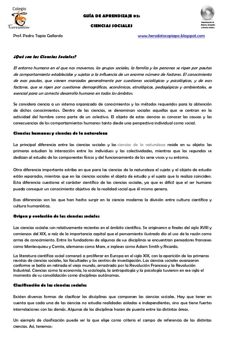 GUÍA DE APRENDIZAJE 02:                                             CIENCIAS SOCIALESProf. Pedro Tapia Gallardo           ...