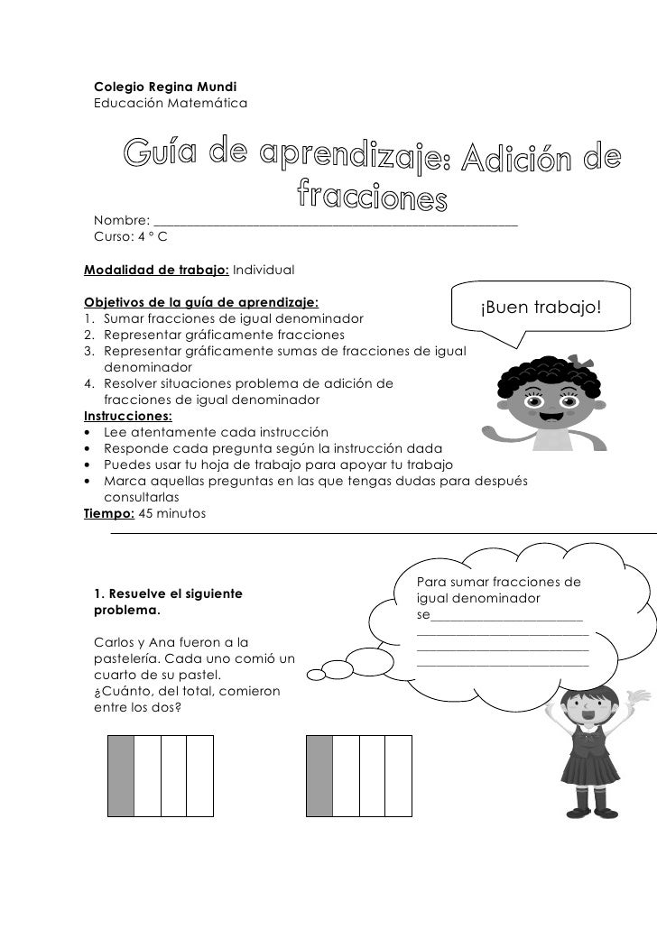 Guía de aprendizaje adición de fracciones (anexo 3.5)