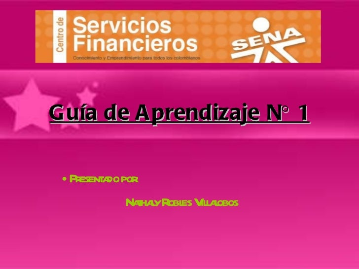 Guía de Aprendizaje N° 1 <ul><li>Presentado por:  </li></ul><ul><li>Nathaly Robles Villalobos   </li></ul>